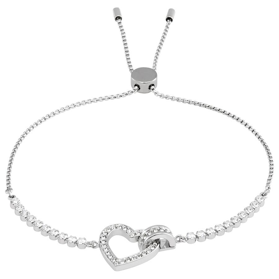 ec60a30c3f7b Swarovski Lovely Rhodium Interlocking Bracelet - Size Medium Item No.  5380704