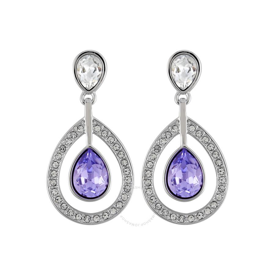 Swarovski Mila Pierced Lavender Crystal Earrings 1126761