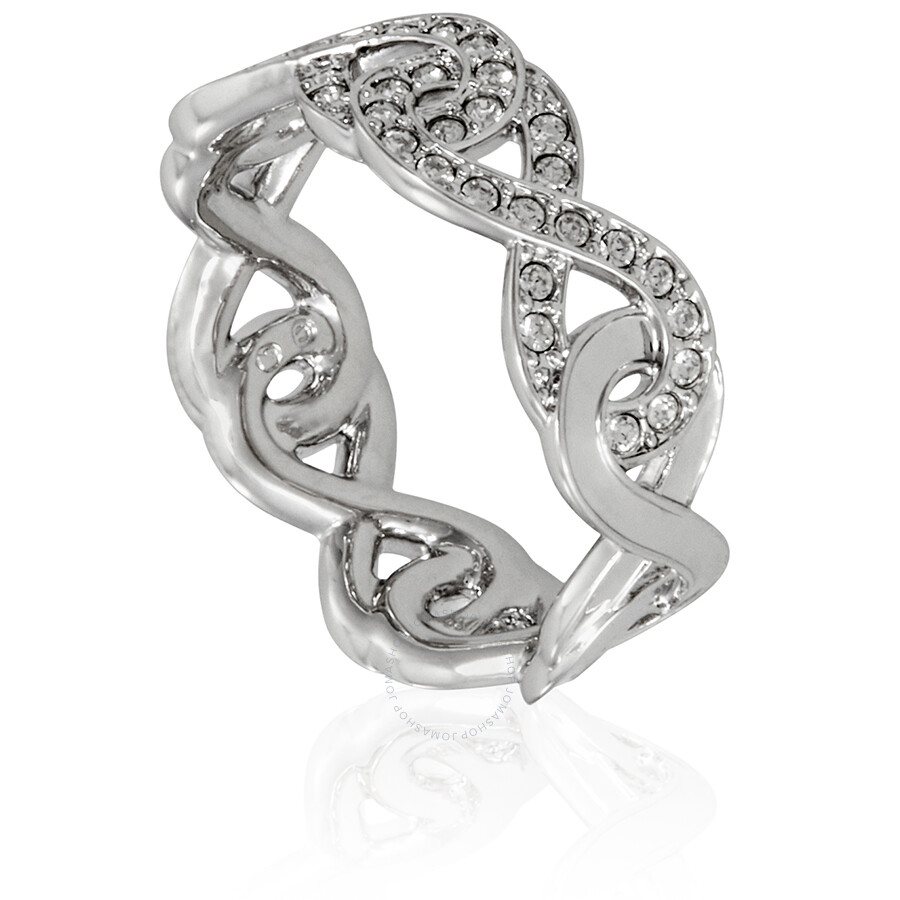 761d85d62 Swarovski Rhodium Plated Infinity Ring - Size 52 - Swarovski ...