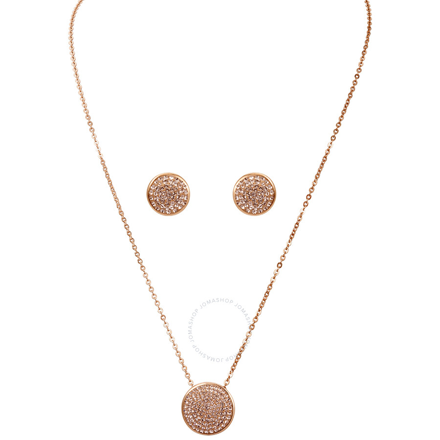 2832da2bf3a64 Swarovski Rose Gold Earring and Necklace Fun Set Item No. 5227970