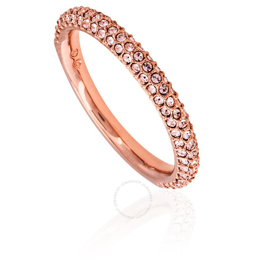 b13901560 Swarovski Rose Gold Plated Stone Mini Ring- Size 58 - Swarovski ...