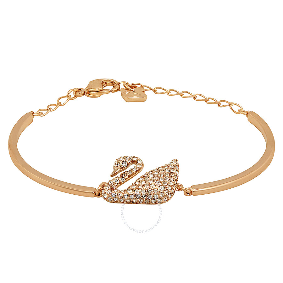 Swarovski Rose Gold Plated Swan Bangle