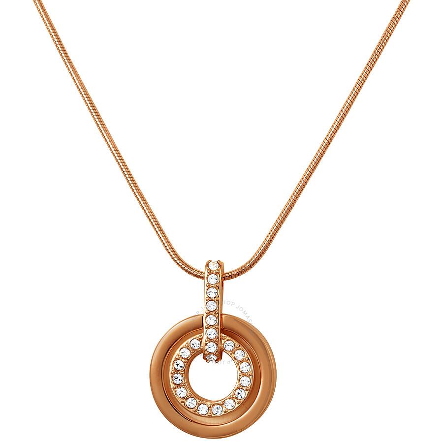 227e57bc6 Swarovski Rose Gold-Tone Circle Pendant 1081976 - Swarovski - Ladies ...