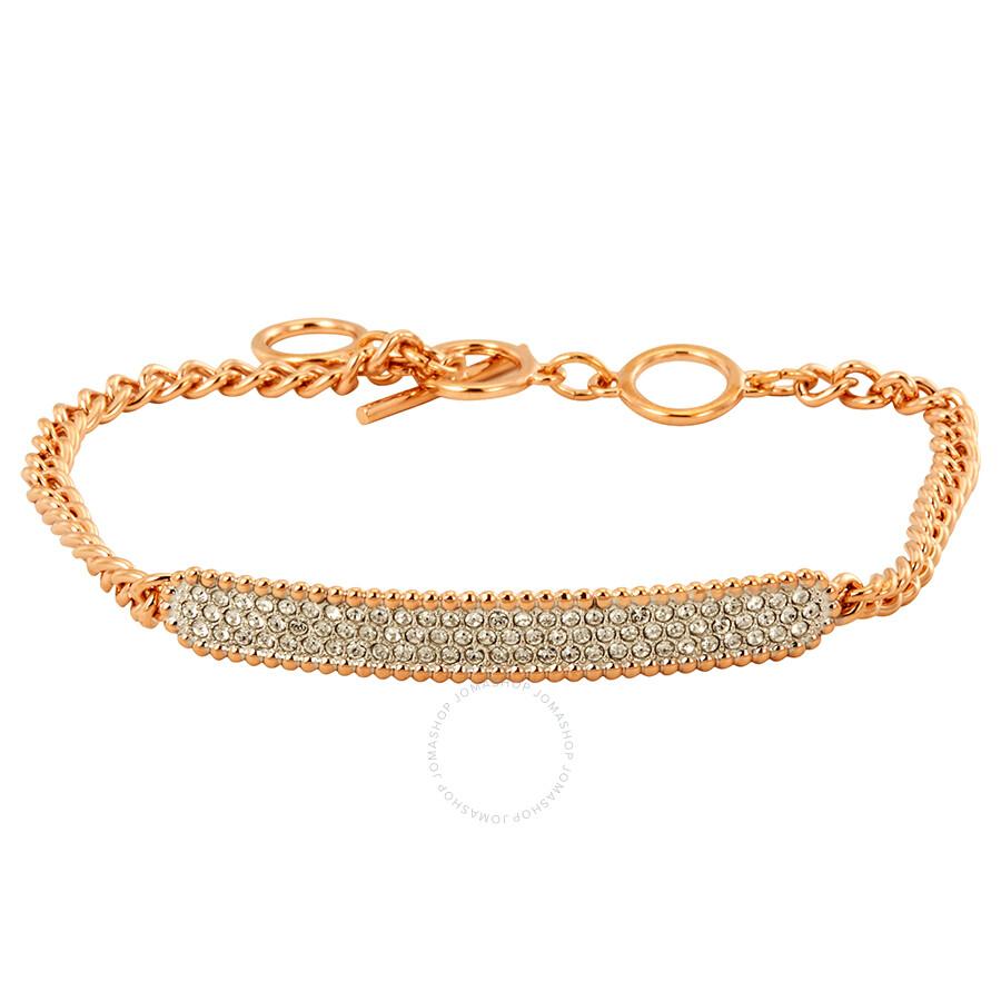 Swarovski Rose Gold Tone Locket Bracelet Size M