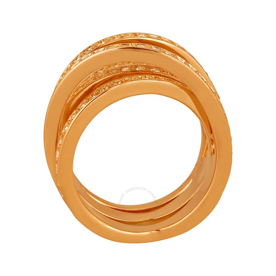 Swarovski Spiral Ring Rose Gold