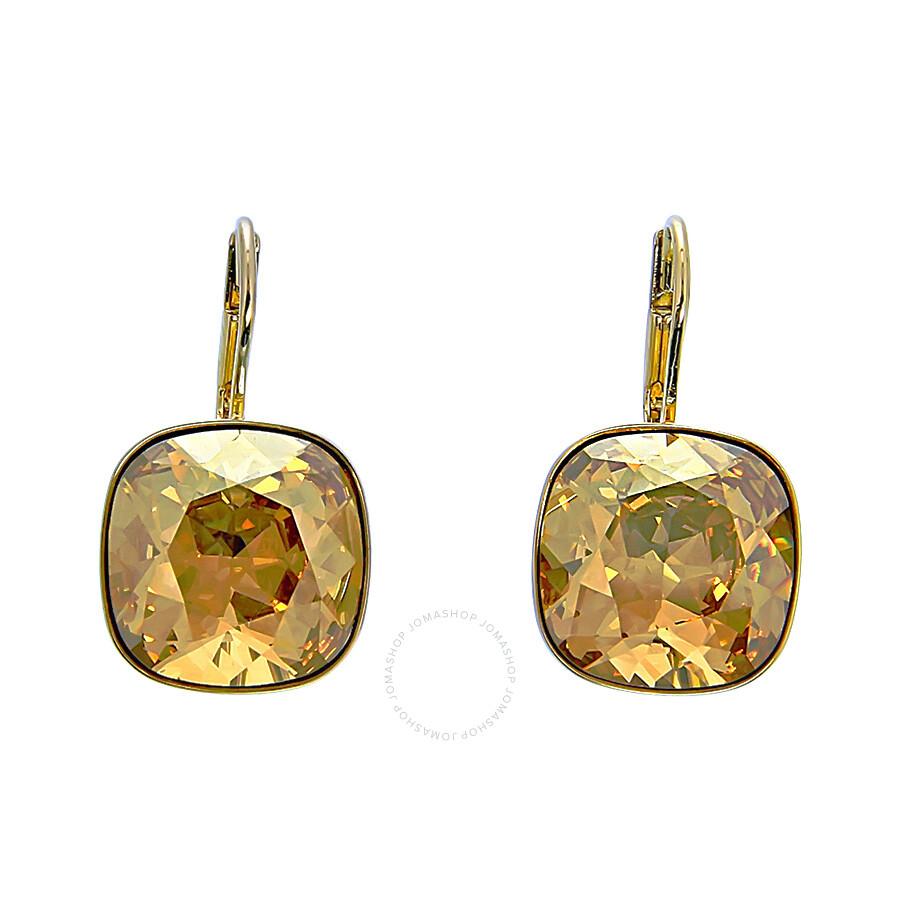 swarovski sheena golden shadow pierced earrings