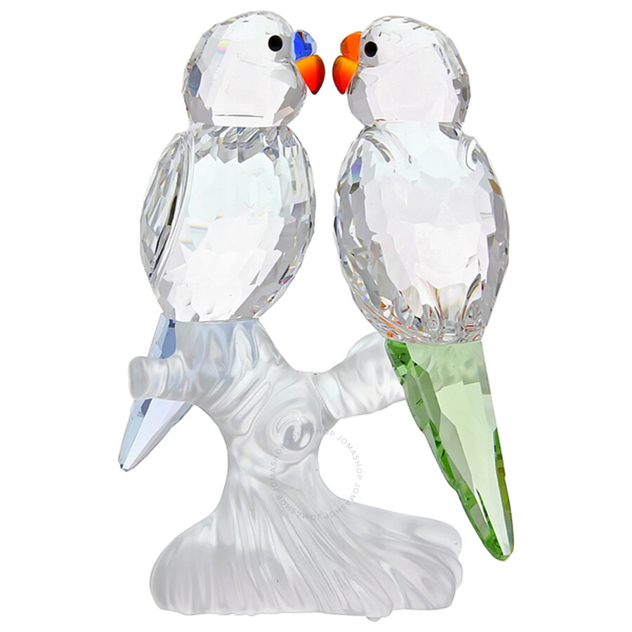 Swarovski Silver Crystal Budgies Figurine 680627 ...