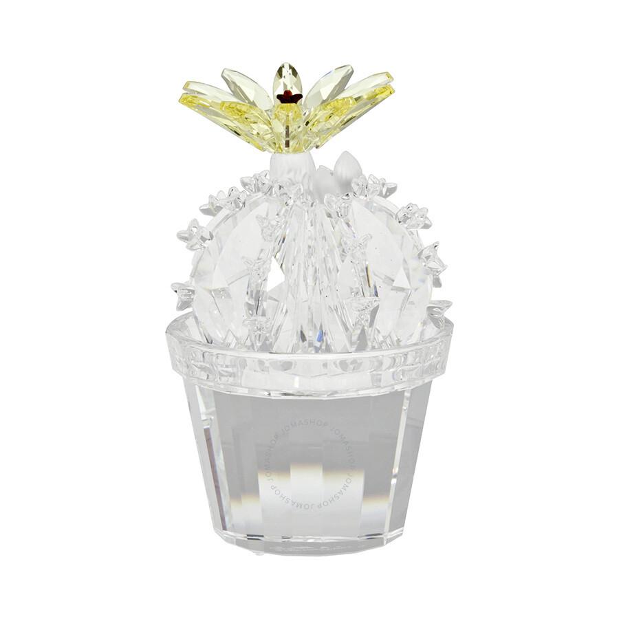 swarovski silver crystal flowering cactus 291549
