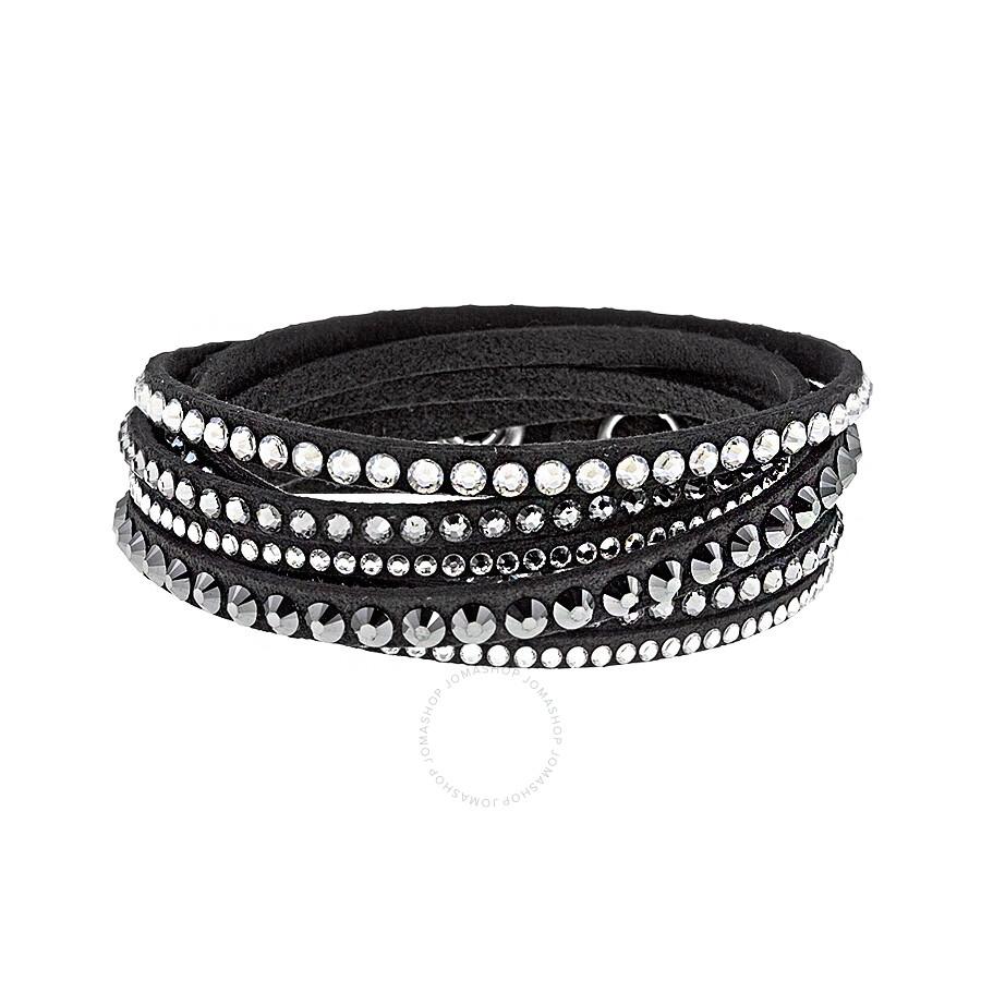 680b5f8408eb2 Swarovski Deluxe Black Bracelet 5021032