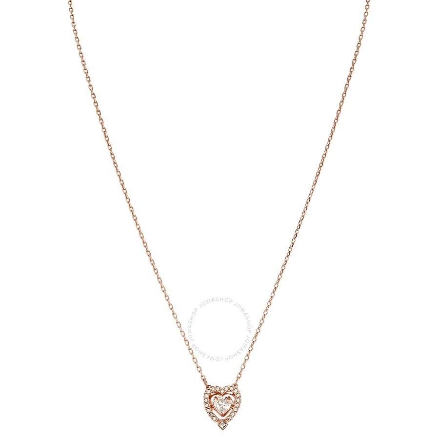 Swarovski Sparkling Dance Heart Necklace White Rose Gold Plating 5284188 ... a98bf2d9c