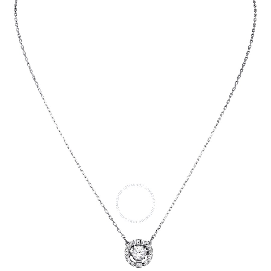 85d5daddd Swarovski Sparkling Dance Round Necklace, White, Rhodium Plating 5286137 ...