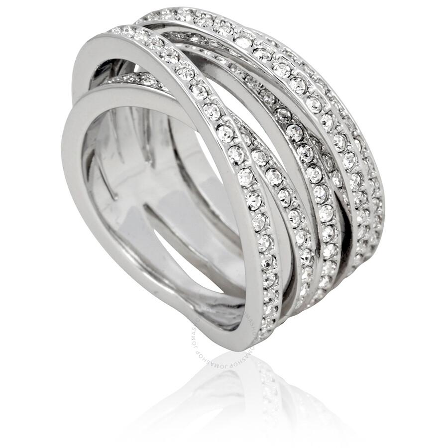 Swarovski Spiral SilverTone Ring Size 7 Swarovski Ladies