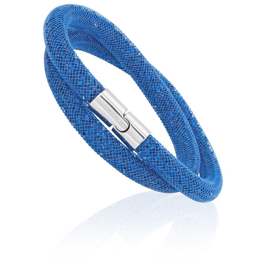 fa14142fe Swarovski Stardust Capri Blue Ladies Double Bracelet 5186426 ...