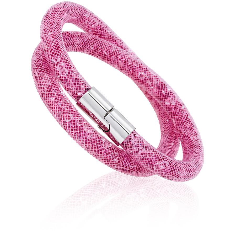 7f8a6356c Swarovski Stardust Pink Ladies Double Bracelet- Small 5139747 ...