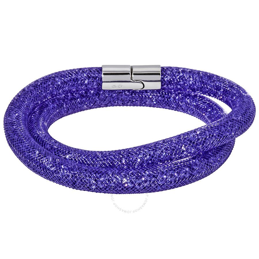 18c4c6575 Swarovski Stardust Purple Double Bracelet 5089834 Swarovski Stardust Purple  Double Bracelet 5089834