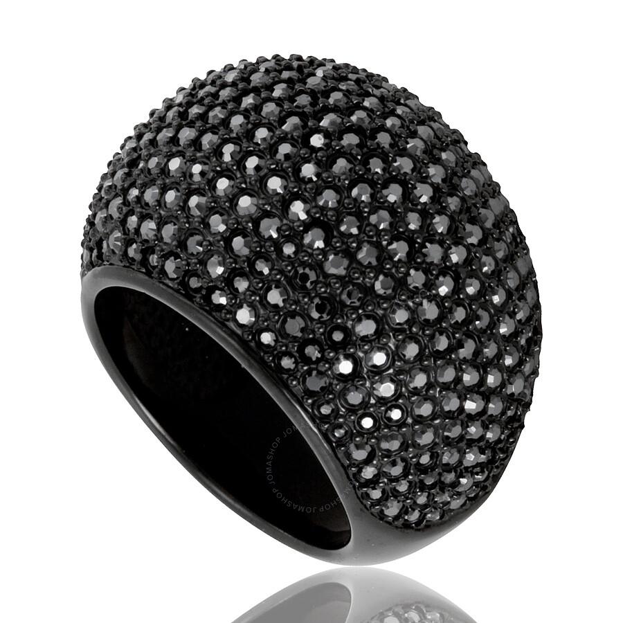 Swarovski Stone Ring - Jet Hermatite Swarovski Stone Ring - Jet Hermatite  ... 5b8149cf7970