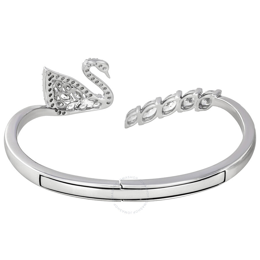 Swarovski Swan Lake Silver Tone Bangle