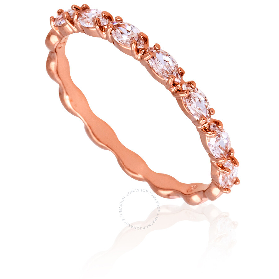 d1bd85177 Swarovski Vittore Marquise Rose Gold Plated Ring- Size 55 ...