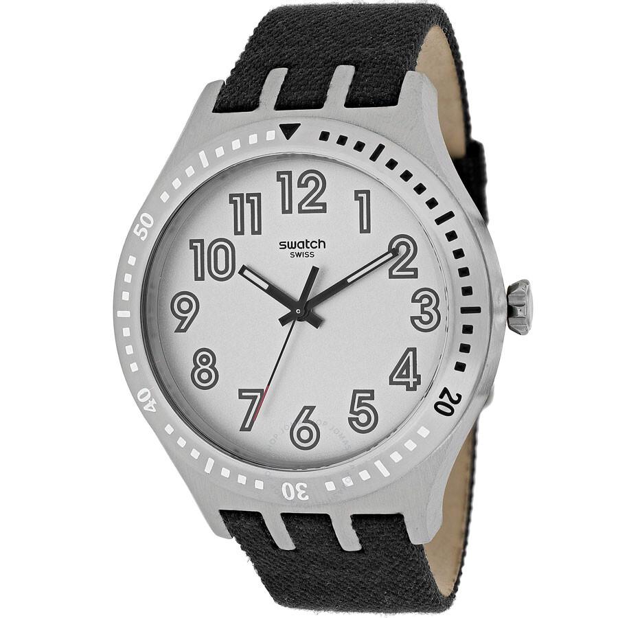 스와치 시계 Swatch Irony Number 100 Grey Dial Mens Watch YTS100