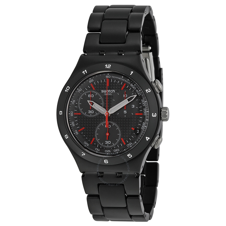 swatch black coated chorongraph black aluminium men s watch swatch black coated chorongraph black aluminium men s watch ycb4019ag