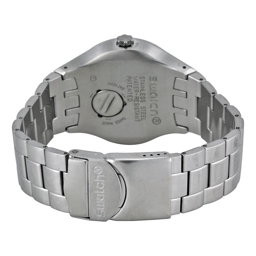 cfac36c532bb Swatch Black Dial Stainless Steel Men s Watch YTS410G - Irony ...