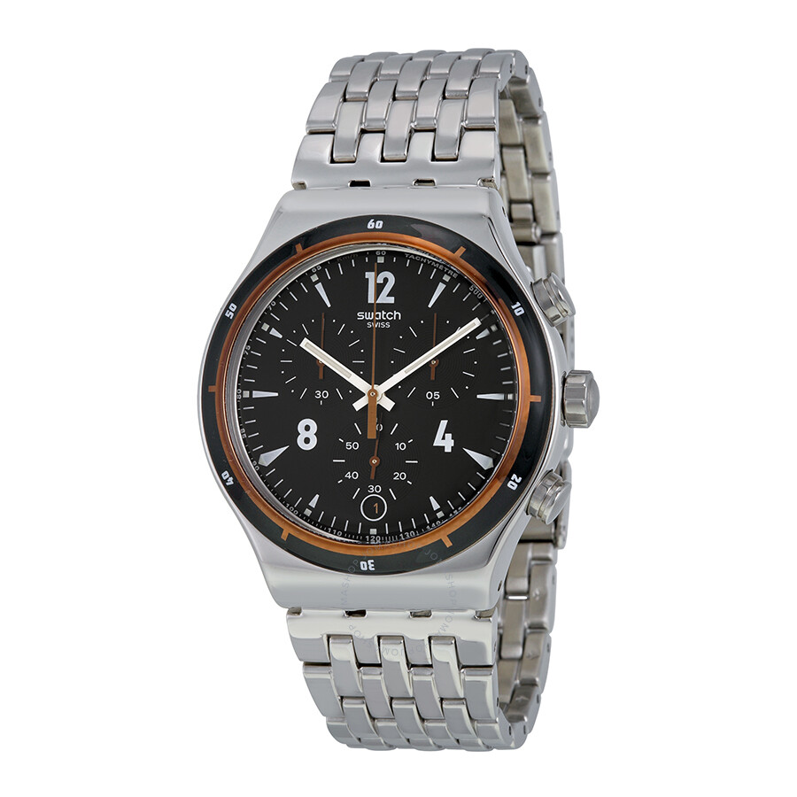Swatch Destination Madrid Chronograph Black Dial Men's ...
