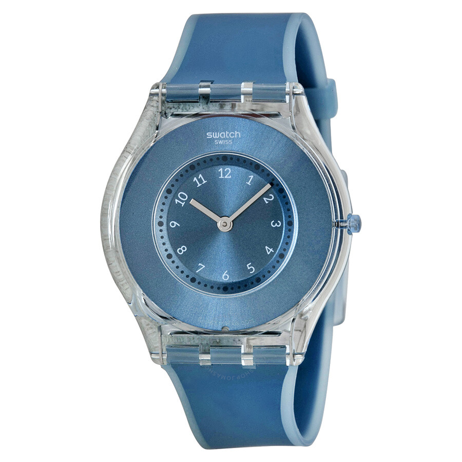 Swatch dive in blue dial blue silicone ladies watch sfs103 - Swatch dive watch ...