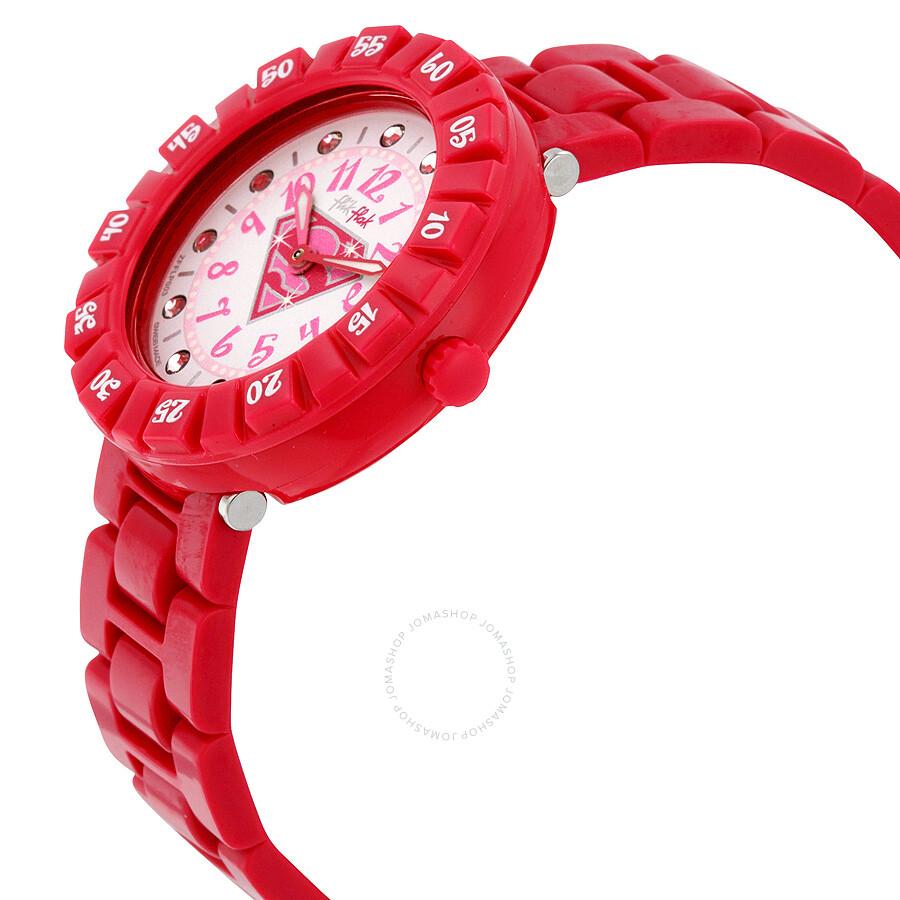 Swatch Flik Flak Supergirl White Dial Pink Girls Watch ZFFLP003 ...