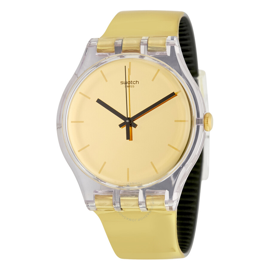 swatch goldenall gold gold plastic s