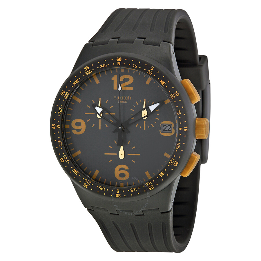 swatch gordon grey black silicone s susa401