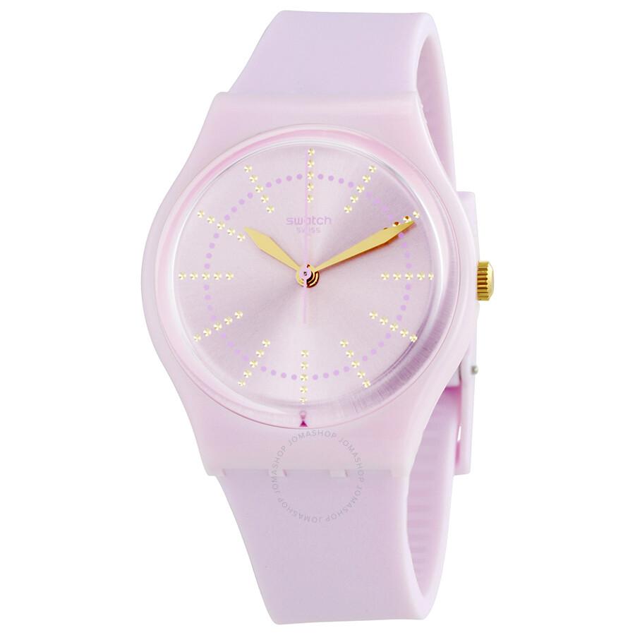 Swatch Guimauve Pink Dial Ladies Watch Gp148 Originals Swatch