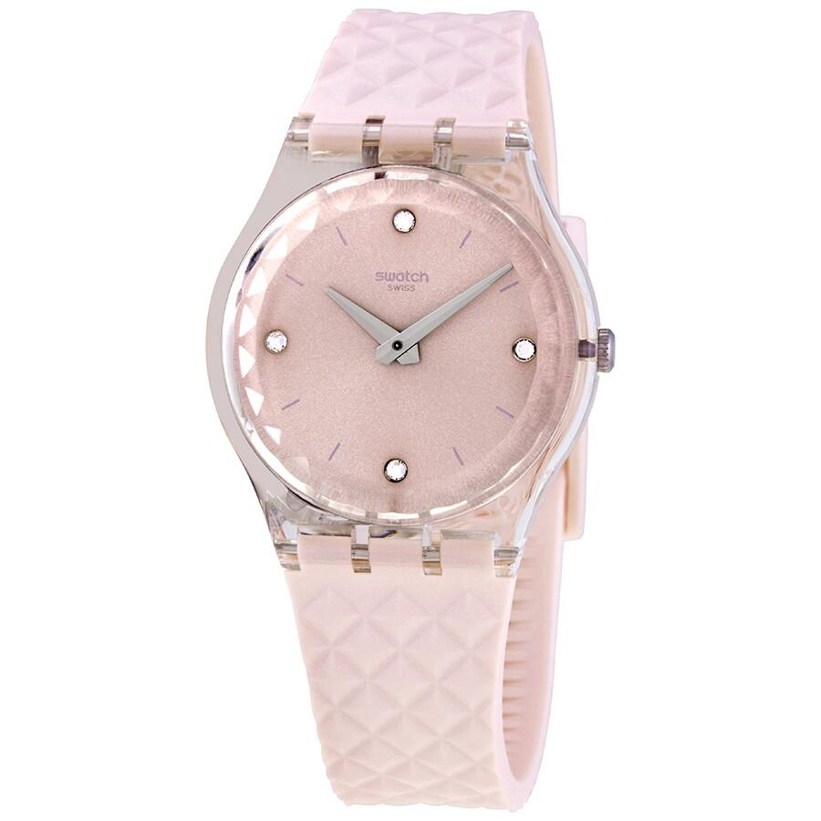 Swatch Irisette Quartz Pink Dial Ladies Watch Ge259 Swatch