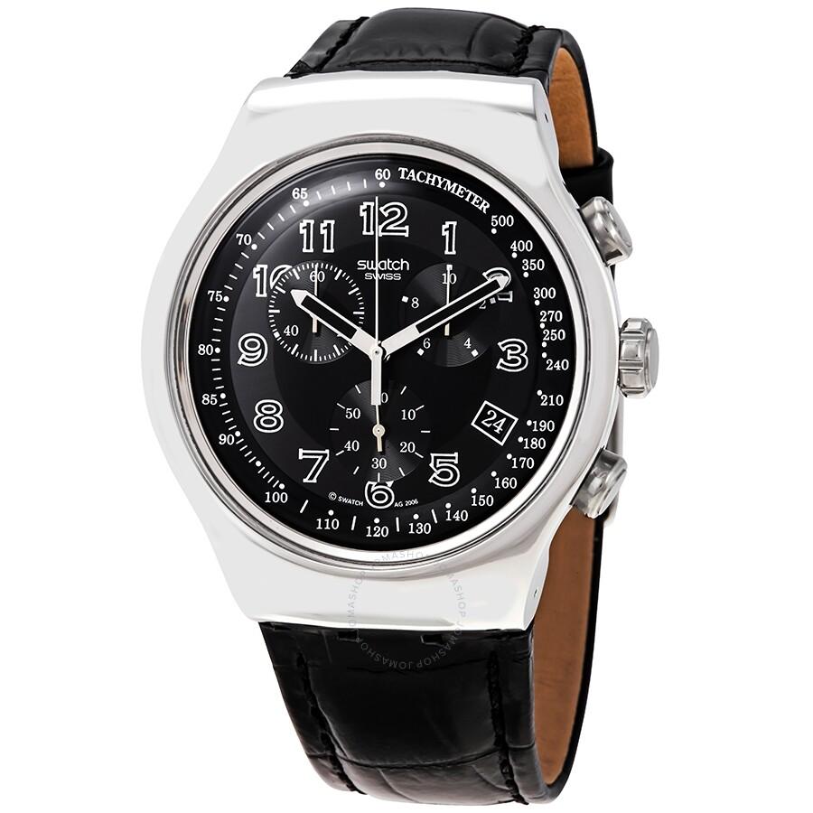 69f3e2da4d01 Swatch Irony Chrono Your Turn Black Men s Watch YOS440 - Irony ...