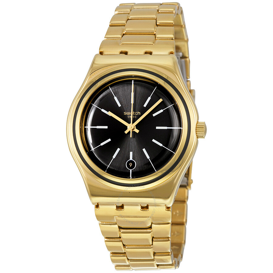 swatch irony last run black gold plated