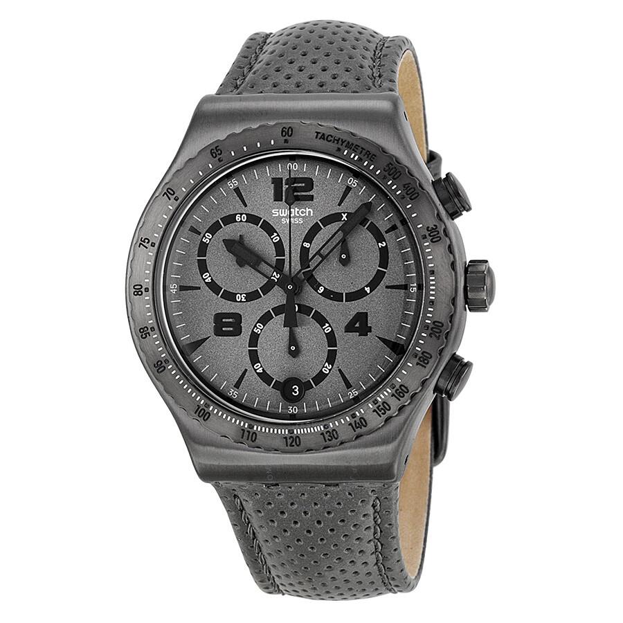 swatch irony parioli chronograph grey grey