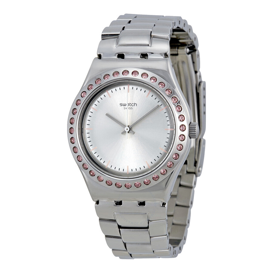 Swatch Irony Pure Powder Silver Dial Ladies Watch Yls172g. Affordable Engagement Rings. Semi Eternity Band. Real Pearl Earrings. Clemson Bracelet. Solid White Gold Bangle Bracelet. Word Necklace. Brown Sapphire. Dorje Pendant