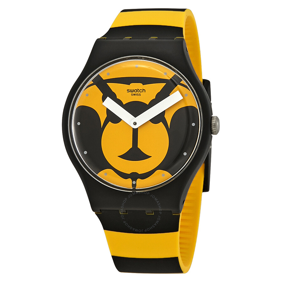 b58e87759a5 Swatch Max L abeille Yello and Black Dial Men s Watch SUOB149 ...