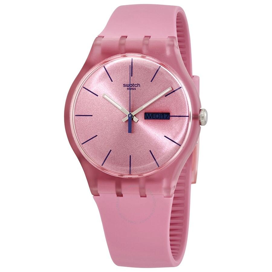 Swatch Pink Rebel Quartz Pink Dial Ladies Watch Suop700