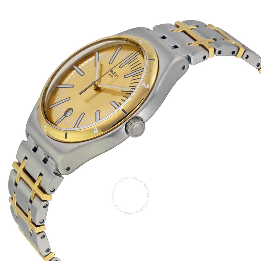 swatch ride in gold two tone s yws410g