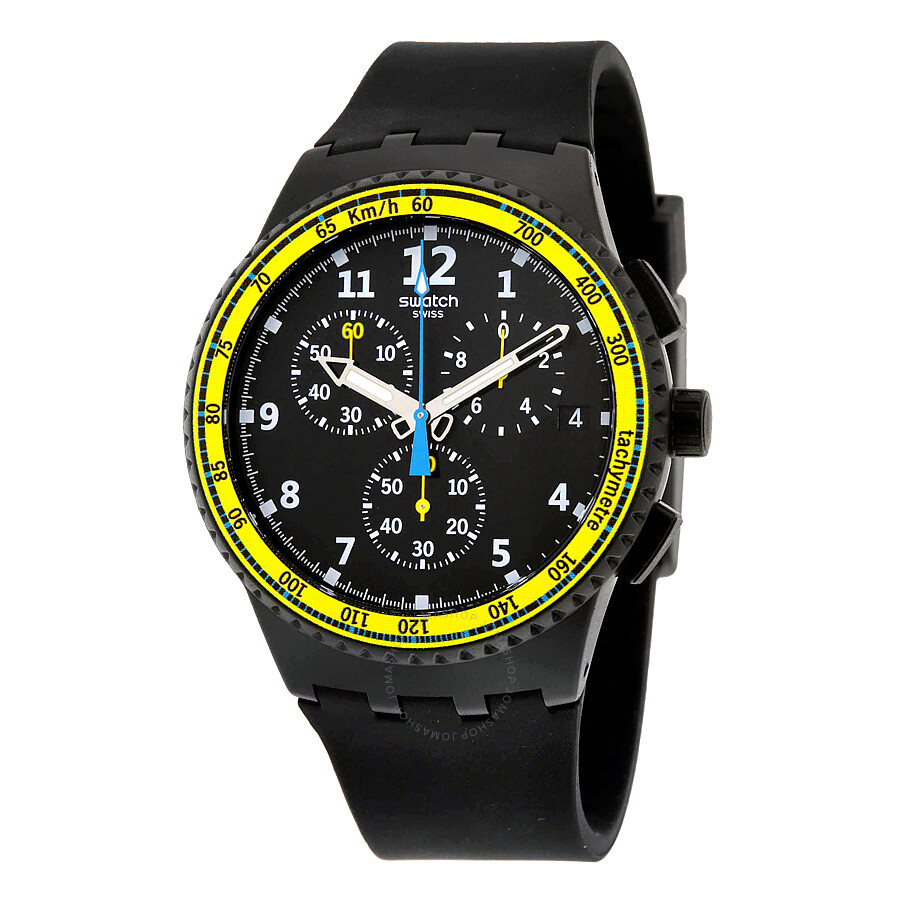swatch sifnos chronograph black dial black silicone men s watch swatch sifnos chronograph black dial black silicone men s watch susb404