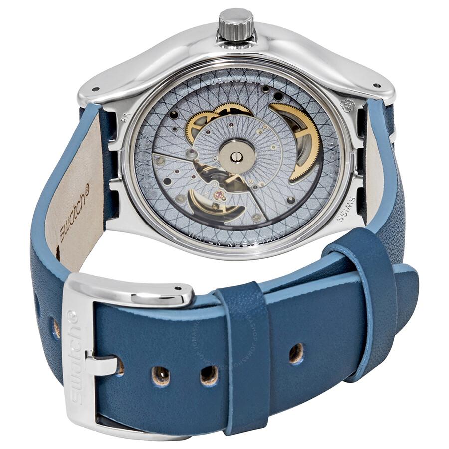 Swatch Blue Watch Sistem Through Yis417 Automatic Dial Men's UMVSzp