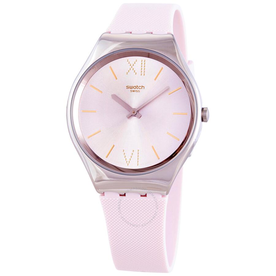 Swatch Skin Lavanda Quartz Pink Dial Ladies Watch Syxs124 Skin