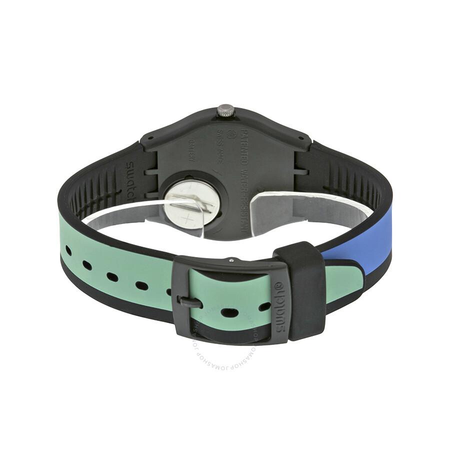 Swatch Sport Mixer Orange Dial Multicolor Silicone Watch GB286