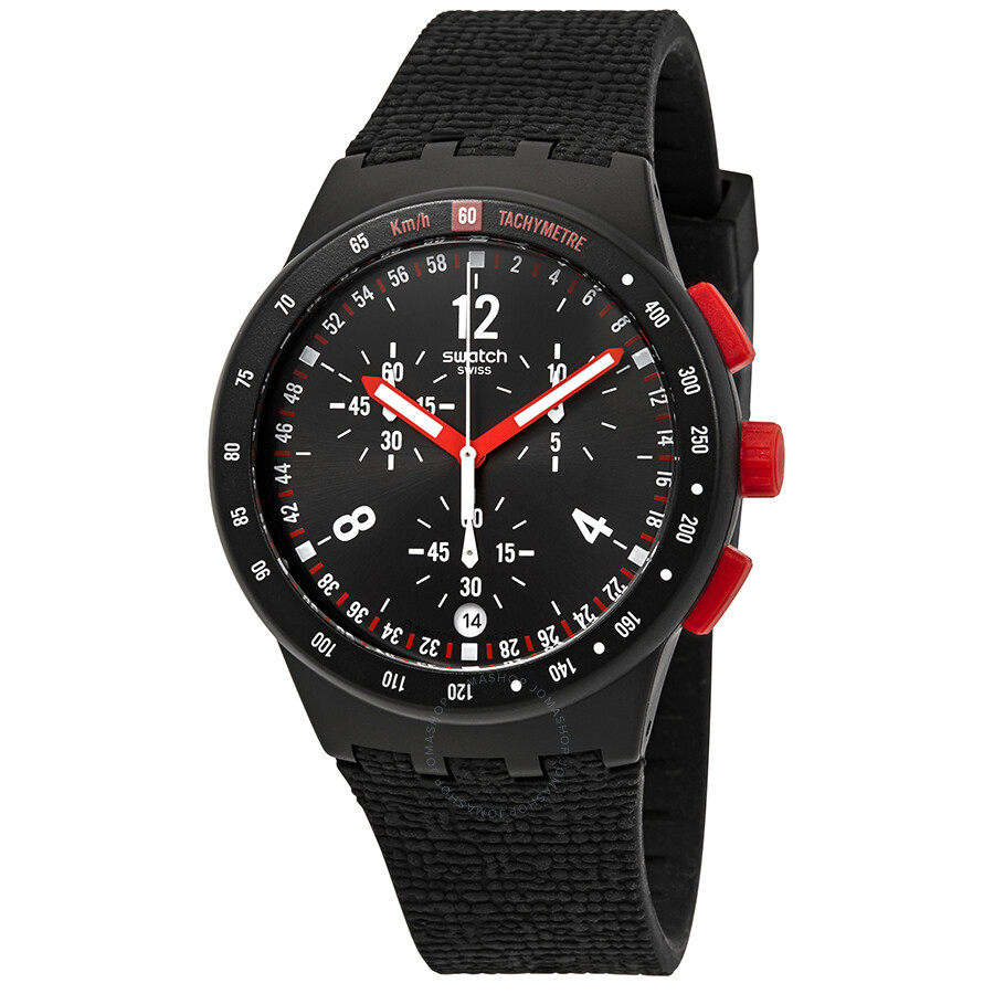 Swatch Stand Hall Chronograph Black Dial Men's Watch SUSB411