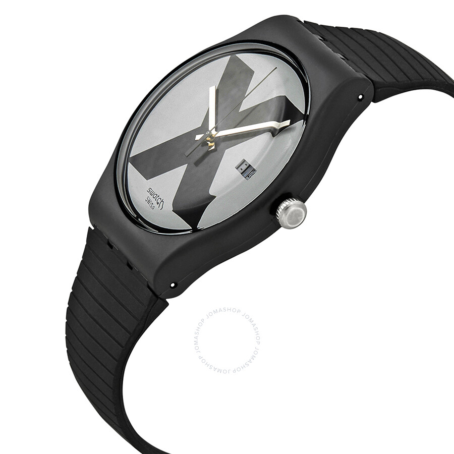 401cb4bced2 ... Swatch XX-Rated Black White Dial Black Silicone Men s Watch SUOB402 ...