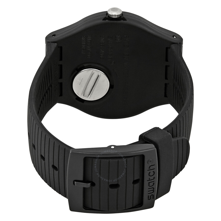 6fa248df50a Swatch XX-Rated Black White Dial Black Silicone Men s Watch SUOB402 ...