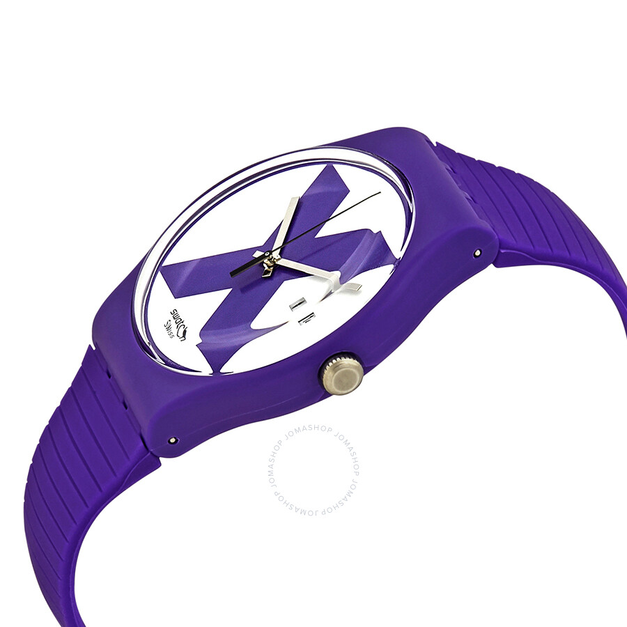 a358e9c2ae6 Swatch XX-Rated White Purple Dial Men s Watch SUOV401 - Originals ...