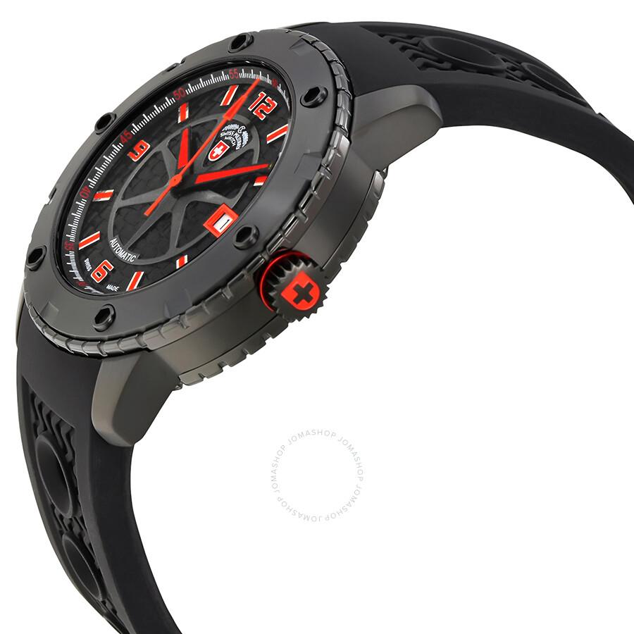 ... Swiss Military Rallye Automatic Black Dial Men's Watch 2757 ...