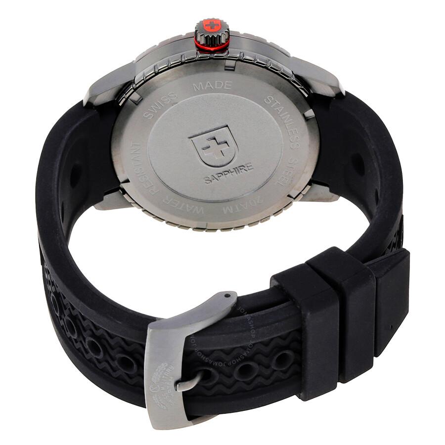 ... Swiss Military Rallye Automatic Black Dial Men's Watch 2757