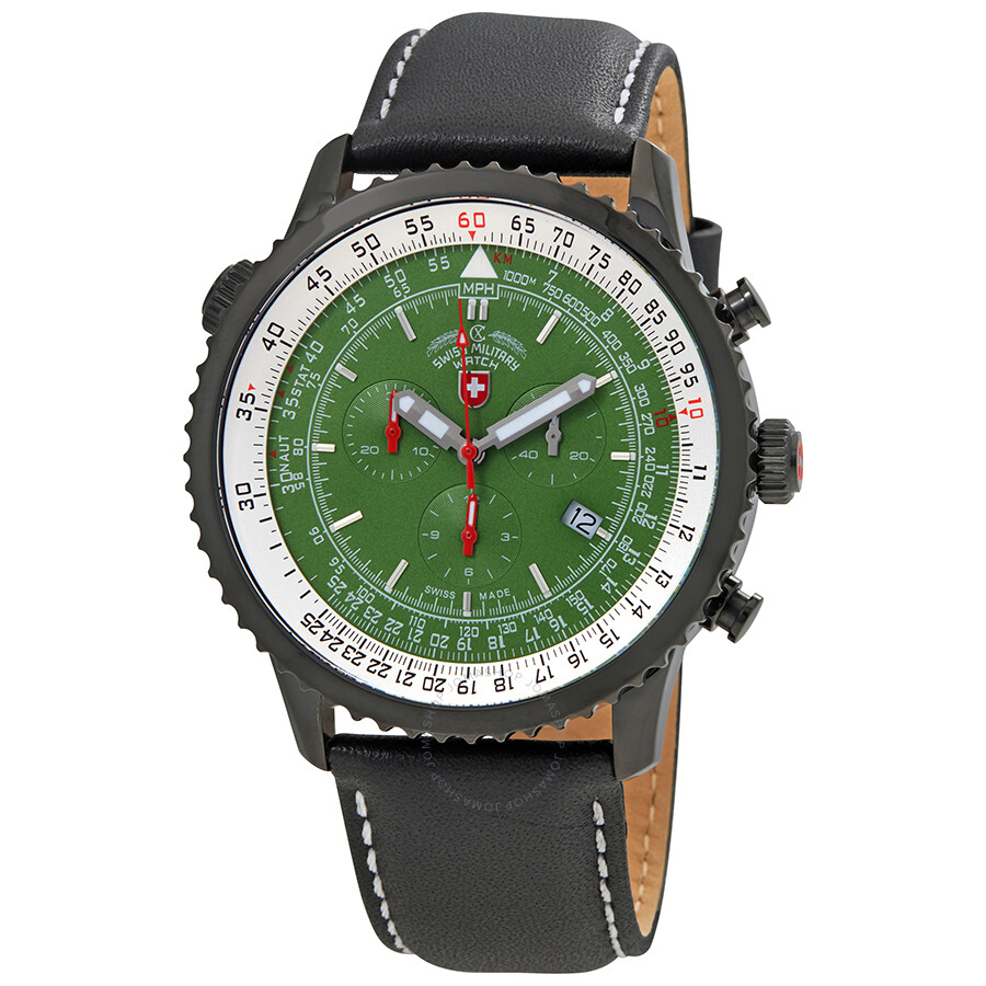 ecfb7b0e2b1 ... Swiss Army Military: Swiss Military Thunderbolt Red Dial Men's  Chronograph Leather Watch 295901